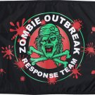 """Zombie Outbreak Response Team - 12"""" x 18"""" Nylon Flag"""