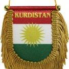 Kurdistan Window Hanging Flag (Shield)