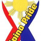"Philippines - 4"""" x 8"""" Ribbon Magnet"