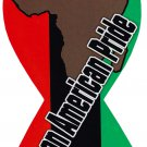 """African American Magnet - 4"""" x 8"""" Ribbon Magnet"""