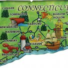 Connecticut Acrylic State Map Magnet