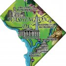Washington, DC (District of Columbia) Acrylic State Map Magnet