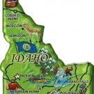 Idaho Acrylic State Map Magnet