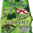 Alabama Acrylic State Map Magnet