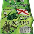 Alabama Acrylic State Map Magnet