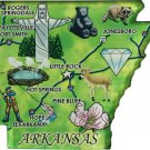 Arkansas Acrylic State Map Magnet