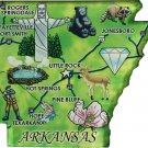 Arkansas Acrylic State Map Magnet