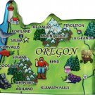 Oregon Acrylic State Map Magnet