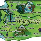 Washington Acrylic State Map Magnet