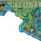 Maryland Acrylic State Map Magnet