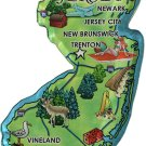 New Jersey Acrylic State Map Magnet