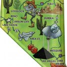 Nevada Acrylic State Map Magnet