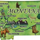 Montana Acrylic State Map Magnet