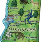 Mississippi Acrylic State Map Magnet