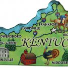 Kentucky Acrylic State Map Magnet