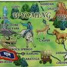 Wyoming Acrylic State Map Magnet