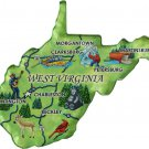 West Virginia Acrylic State Map Magnet
