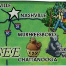 Tennessee Acrylic State Map Magnet