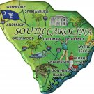 South Carolina Acrylic State Map Magnet