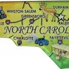 North Carolina Acrylic State Map Magnet
