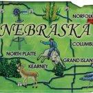 Nebraska Acrylic State Map Magnet