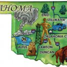 Oklahoma Acrylic State Map Magnet