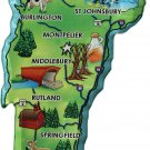 Vermont Acrylic State Map Magnet