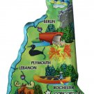 New Hampshire Acrylic State Map Magnet