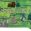 South Dakota Acrylic State Map Magnet