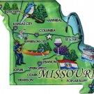 Missouri Acrylic State Map Magnet