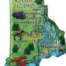 Rhode Island Acrylic State Map Magnet