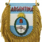 Argentina Window Hanging Flag (Shield)