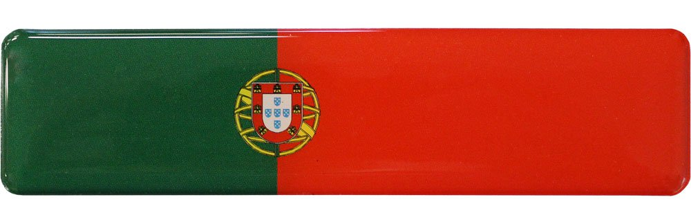 Portugal Long Domed Sticker