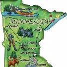 Minnesota Acrylic State Map Magnet