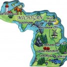 Michigan Acrylic State Map Magnet