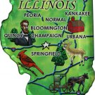 Illinois Acrylic State Map Magnet