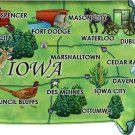 Iowa Acrylic State Map Magnet