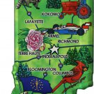 Indiana Acrylic State Map Magnet