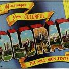 Colorado Acrylic Postcard Magnet