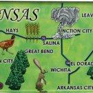 Kansas Acrylic State Map Magnet