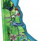 Delaware Acrylic State Map Magnet