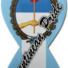 Argentina Ribbon Magnet (Argentinean Pride)