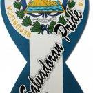 El Salvador Ribbon Magnet (El Salvadoran Pride)