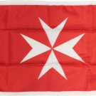 "Malta - 12""X18"" Nylon Flag (Red Ensign)"