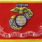 Marines Rectangular Patch (Gold Trim)