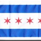 "Chicago 5.75"" x 8"" Motorcycle Flag"