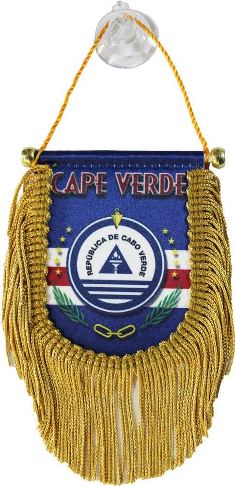 Cape Verde Window Hanging Flag (Shield)