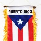 Puerto Rico Window Hanging Flag
