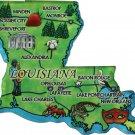 Louisiana Acrylic State Map Magnet