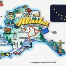 Alaska State Map Die Cut Sticker